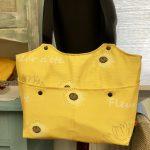 Umhängetasche gelb mit Sonnenblumenmuster